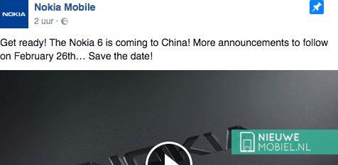 Nokia Facebook aankondiging