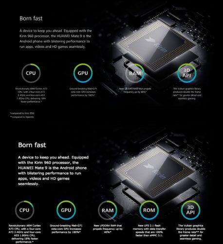 Huawei UFS 2.1 claim