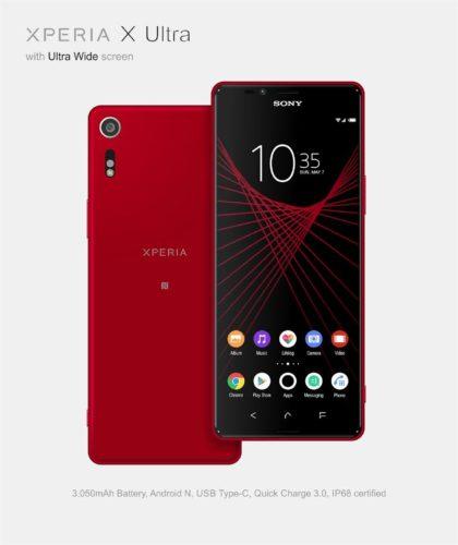 Sony Xperia X Ultra concept