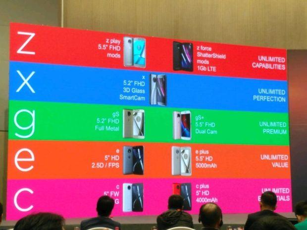 Motorola line-up 2017