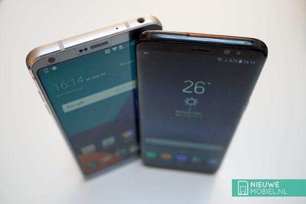Samsung Galaxy S8 met de LG G6