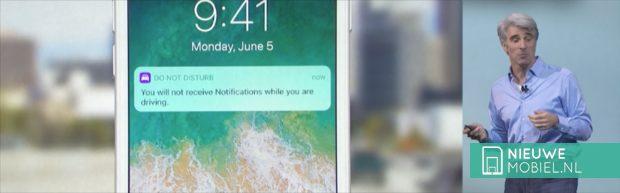 iOS11 don't disturb while driving
