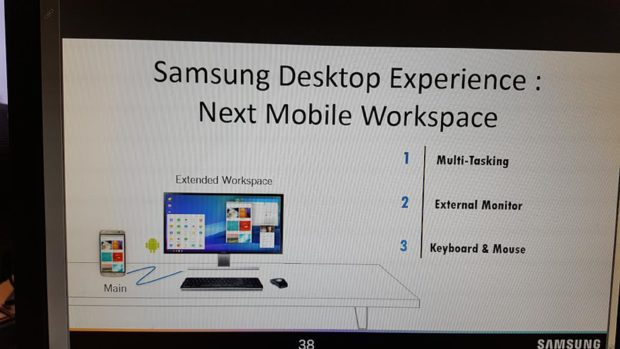 Samsung Galaxy S8 desktop