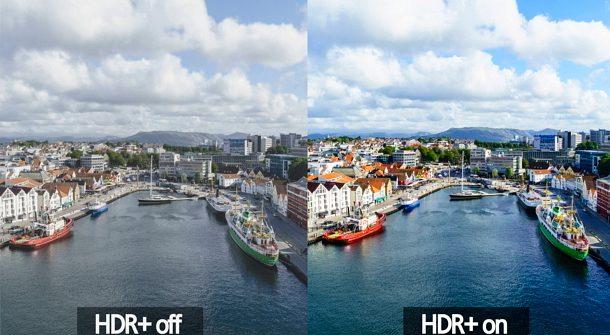 Tikkeltje overdreven maar HDR uit, en HDR aan