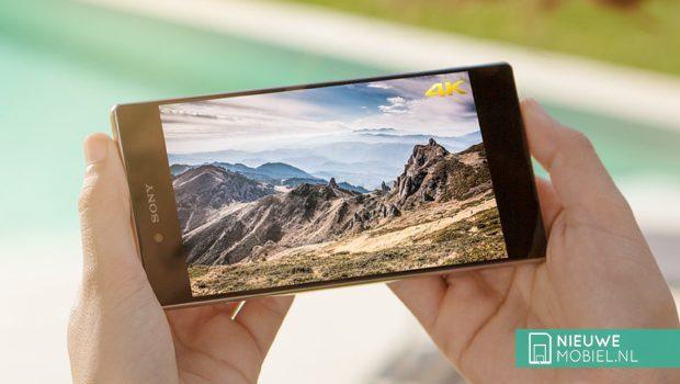Sony Xperia 4K scherm
