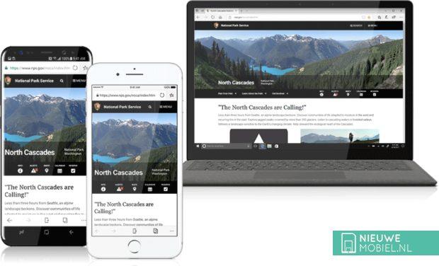 Microsoft Edge voor iOS en Android