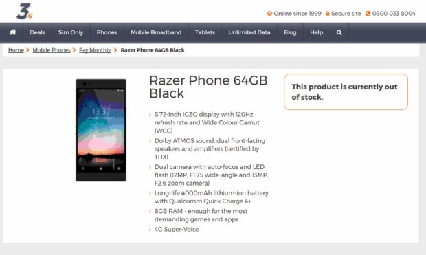Razer Phone specificaties