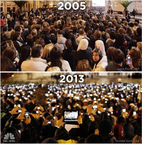 Nieuwe Paus 2005 en 2013