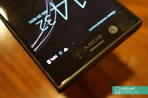 Sony Xperia XZ1 Compact bovenkant