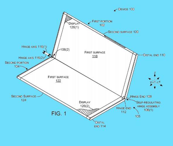 Microsoft hinge patent