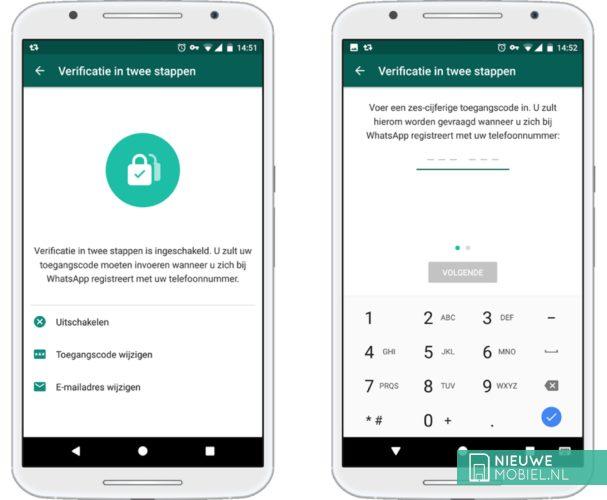 WhatsApp twee-staps-verificatie