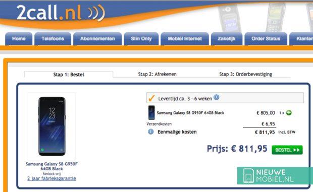Samsung Galaxy S8 bij 2Call