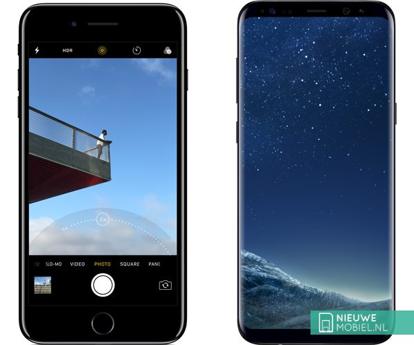 Apple iPhone 7 Plus en Samsung Galaxy S8 Plus