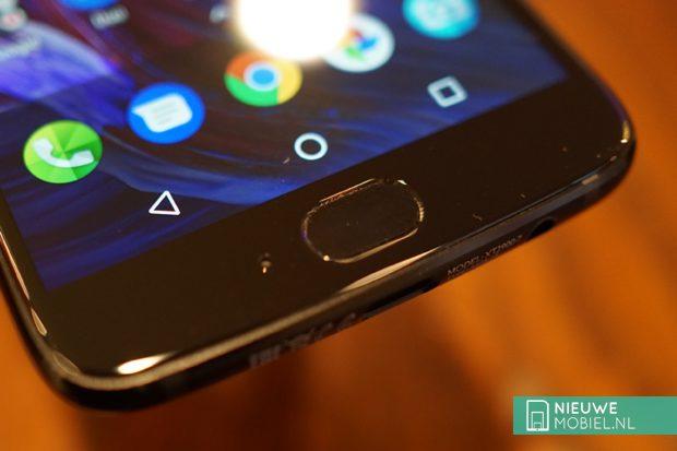 Motorola Moto X4 vingerafdrukscanner