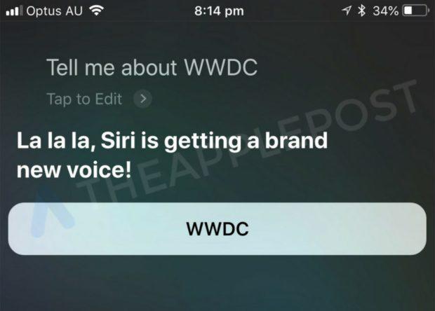 Apple Siri new voice