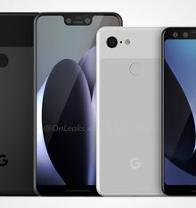 Nieuwe renders tonen Google Pixel 3 en 3 XL in volle glorie / via @OnLeaks