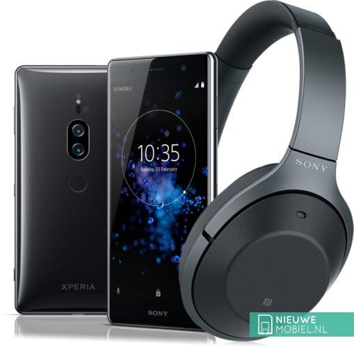 Sony Xperia XZ2 Premium met Sony WH-1000XM2