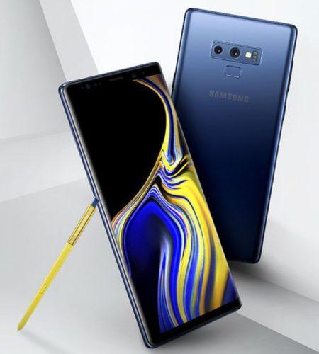 Samsung Galaxy Note 9 met gele S Pen