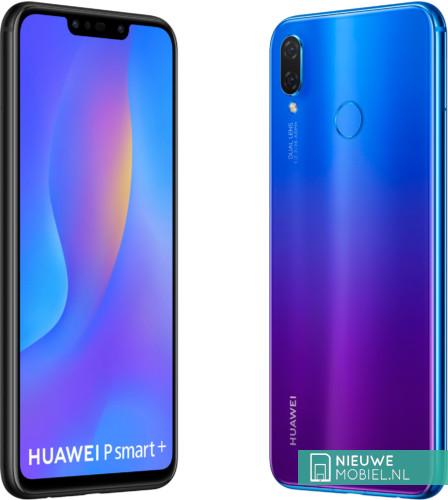 Huawei P Smart+ in Black en Iris Purple
