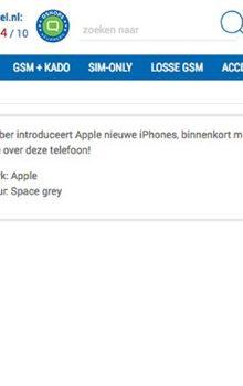 Webshop @RitelNL denkt het zeker te weten: de volgende Apple iPhone heet de iPhone X Pro