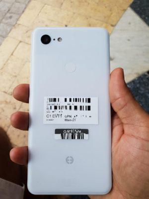 Google Pixel 3 XL Clear White achterkant