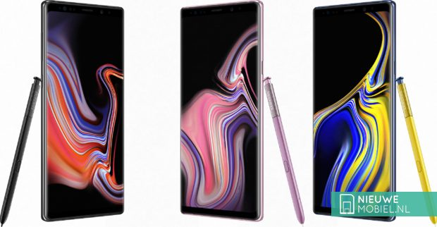 Samsung Galaxy Note 9 kleuruitvoeringen