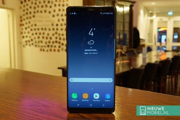Samsung Galaxy Note8 voorzijde