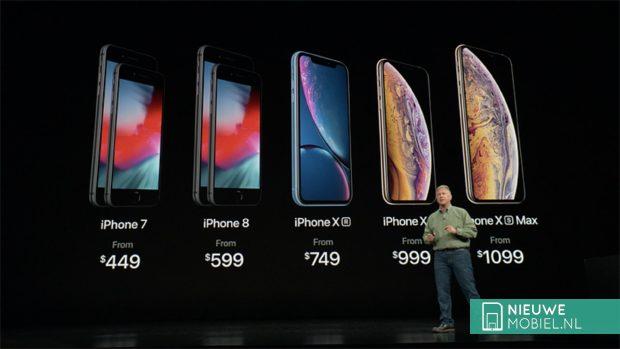 Dit zijn de prijzen van de Apple iPhone Xs en iPhone Xs Max