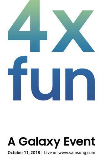 Samsung 4x fun uitnodiging