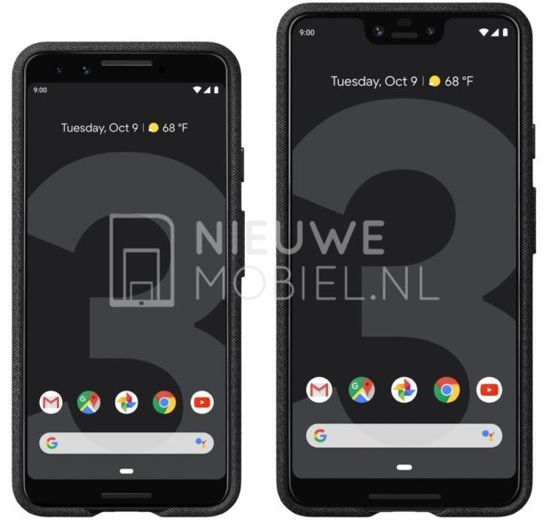Google Pixel 3 en Pixel 3 XL voorkant