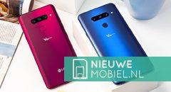 LG V40 ThinQ in rood en blauw