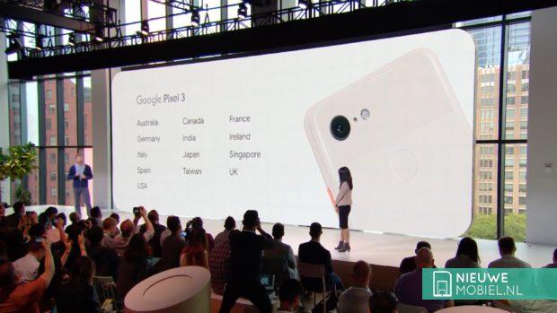 Google Pixel 3 in welke landen