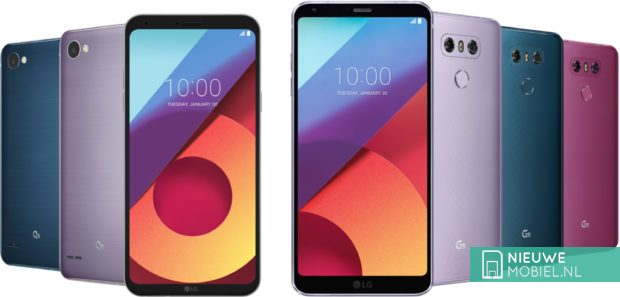 LG G6 en Q6 nieuwe kleuren
