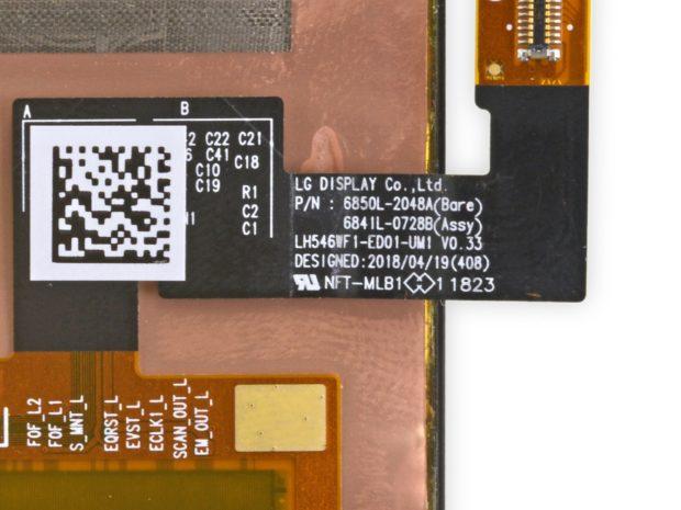 LG-paneel in Google Pixel 3
