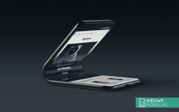 Verticaal vouwbare Samsung Galaxy F