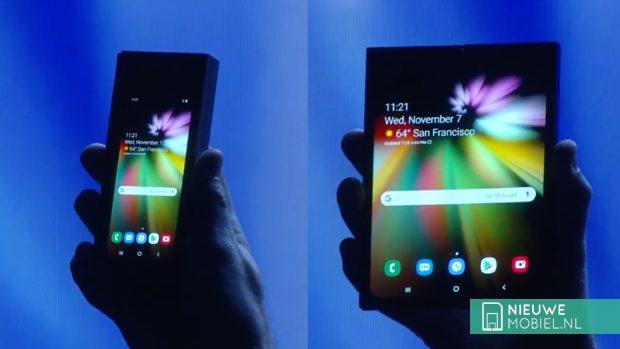 Samsung vouwbare Galaxy met Infinity Flex Display