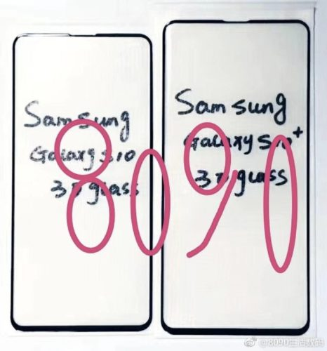 Samsung Galaxy S10 screenprotector