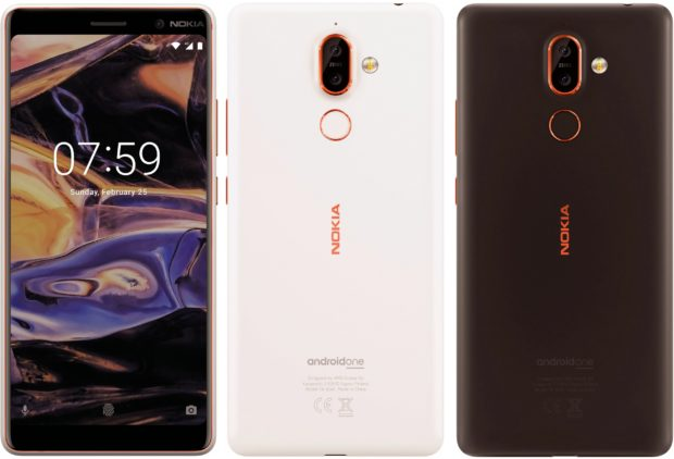 Nokia 7+ met Android One