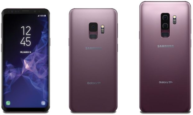 Samsung Galaxy S9 en S9+ Lilac Purple