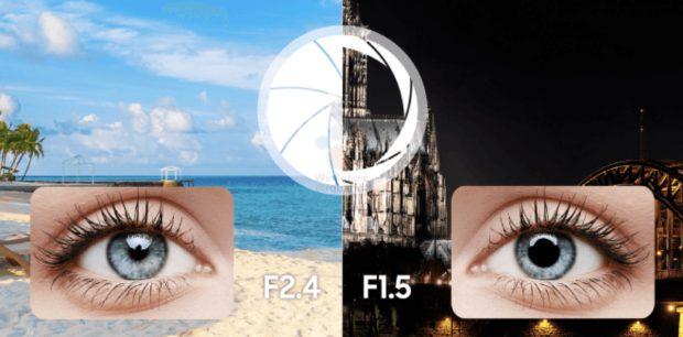 Samsung Galaxy S9 variabel lensopening