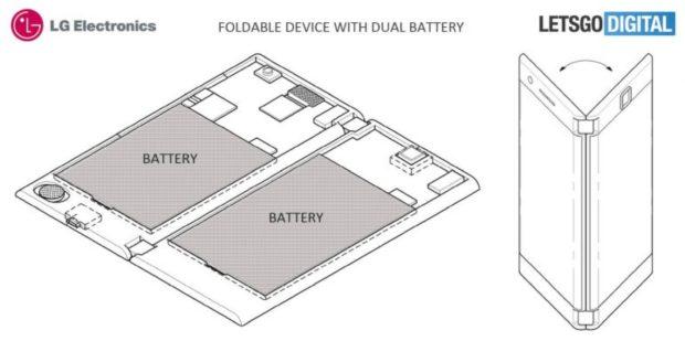 LG vouwbaar telefoon concept