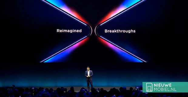 Huawei Mate X during MWC 2019