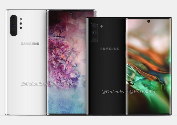 Samsung Galaxy Note 10 Pro naast de Galaxy Note 10