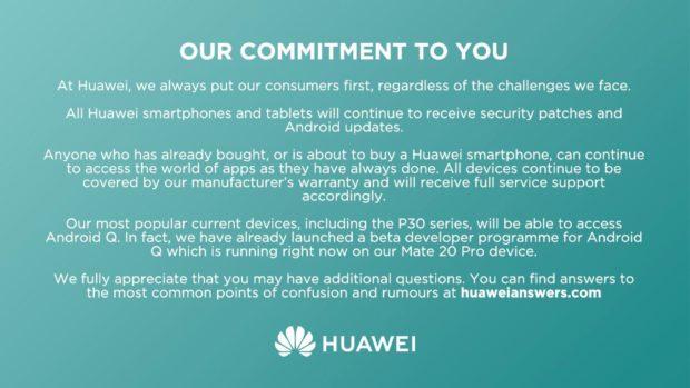 Huawei belofte