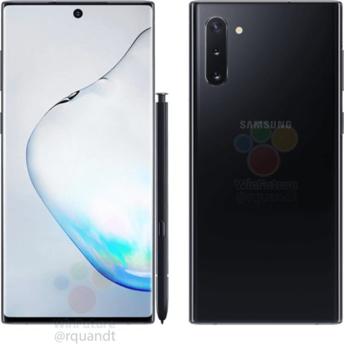 Samsung Galaxy Note 10 in Prism Black