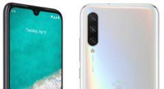 Persrender toont Xiaomi Mi A3 met achterop 3 camera's