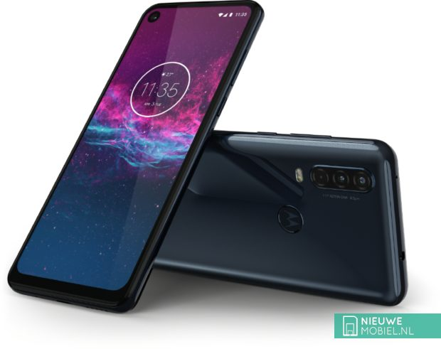 Motorola One Action in het grijs