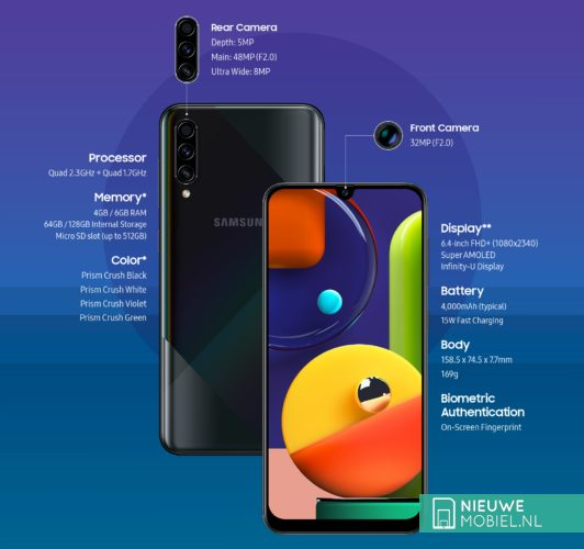 Samsung Galaxy A50s specificaties
