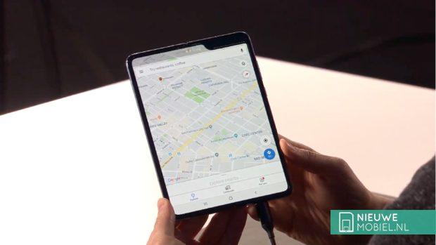 Samsung Galaxy Fold maps