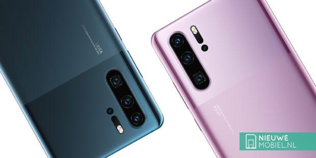 Huawei P30 Pro Mystic Blue en Misty Lavender